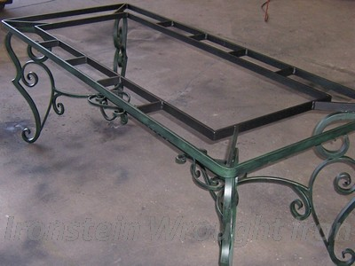 Ironstein wrought iron wrought iron photo gallery for Wrought iron table bases marble top